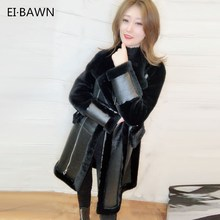 Winter 2019 New Long Fur Coat Female Sheepskin Korean Edition Show Thin Lambs Wool Sheared Fur Polo Collar with Zipper jenaische zeitschrift fur naturwissenschaft volume 13 german edition