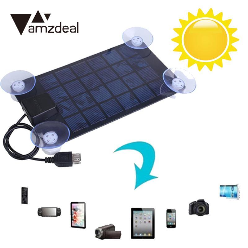 Amzdeal High Quality 14.5 * 10cm Solar Power Charger DC 6V 2.5w Ultra Thin Solar Panel USB 2.0 Camping Traveling Riding Outdoor ...