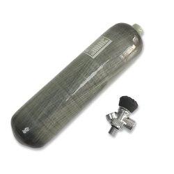 AC10331 Cilindro Pcp 3L 4500Psi In Fibra di Carbonio Serbatoio Compressa Pistola Ad Aria Pcp Valvola Scuba Cilindro Speargun Pesca Subacquea Acecare