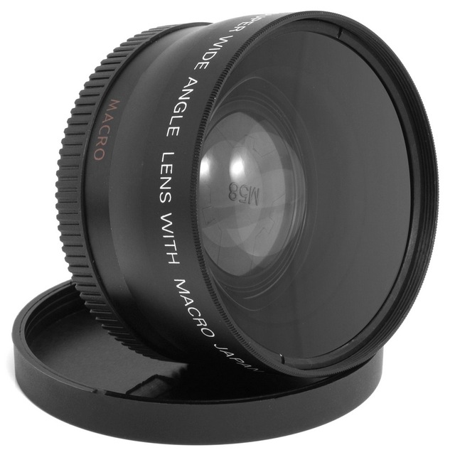 58mm 0.45X Wide Angle Macro Lens for Canon EOS 650D 50D 40D 400D 450D LF037