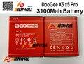 Для DOOGEE X5 X5S Батареи 100% 3100 мАч Литий-Ионная Батарея резервного копирования для DOOGEE X5 Смартфон + на складе