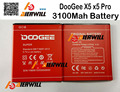 for DOOGEE X5 X5S Battery 100%  3100mAh Li-ion Replacement backup Battery for DOOGEE X5 Smartphone  + in stock