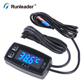 LED Digital thermometer voltmeter temperature meter for pit bike motorcycle snowmobile ATV boat engine
