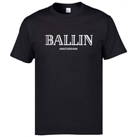 New Summer Fashion Men S Clothing O Neck Ballin Amsterdam Graphic Unisex T Shirt Men Short