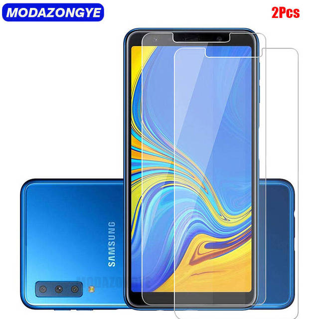 2Pcs Screen Protector For Samsung Galaxy A7 2018 Tempered Glass Samsung A7 2018 A 7 2018 SM-A750F A750F A750 Protective Film
