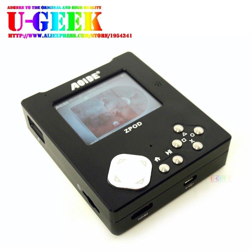 Ugeek Zpod Lossless Placa De Leitor De Música De Alta Fidelidade + Kit De Alumínio Cnc Caso | 192 K/24bit | W/o Raspberry Pi Zero | Portátil | Jogador De Jogo | Retropie