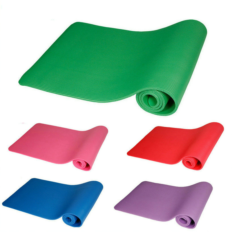 10mm Yoga Mat Pad Blød Ikke-Slip Træningsmat Hjem Gym Fitness Pilates Body Building Sports Mat Madrass