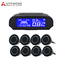 parking sensor with 8 sensors colorful LCD  Buzzar alarm waterproof Sensor Reverse Backup Radar System Parking assist