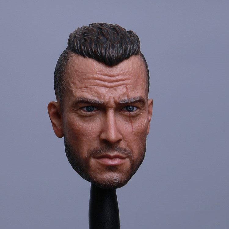 1/6 Male Head Sculpt Ghost The Soap Version 2.0 Head Carving for 12 Action Figure Body Doll Toys Accessories laying the ghost