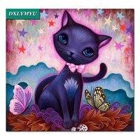3D DIY Diamond Painting Square Butterfly Bow Tie Cat Handmade Diamond Embroidery Cross Stitch Rhinestone Painting