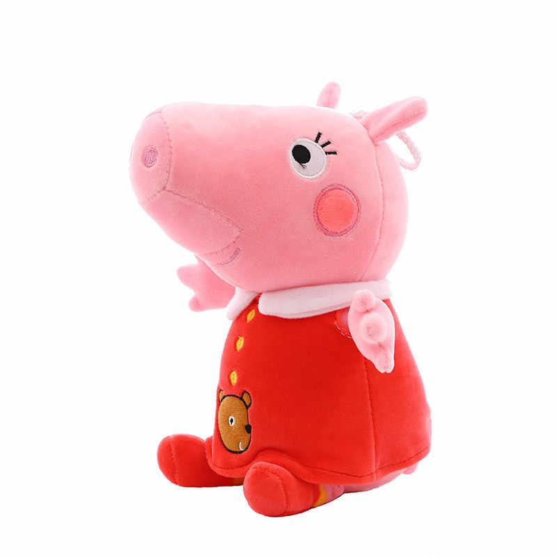 Peppa Pig presente namorada 60 centímetros kawaii brinquedos de pelúcia brinquedo de pelúcia de porco e George enviar a namorada de presente de aniversário para crianças boneca de pelúcia