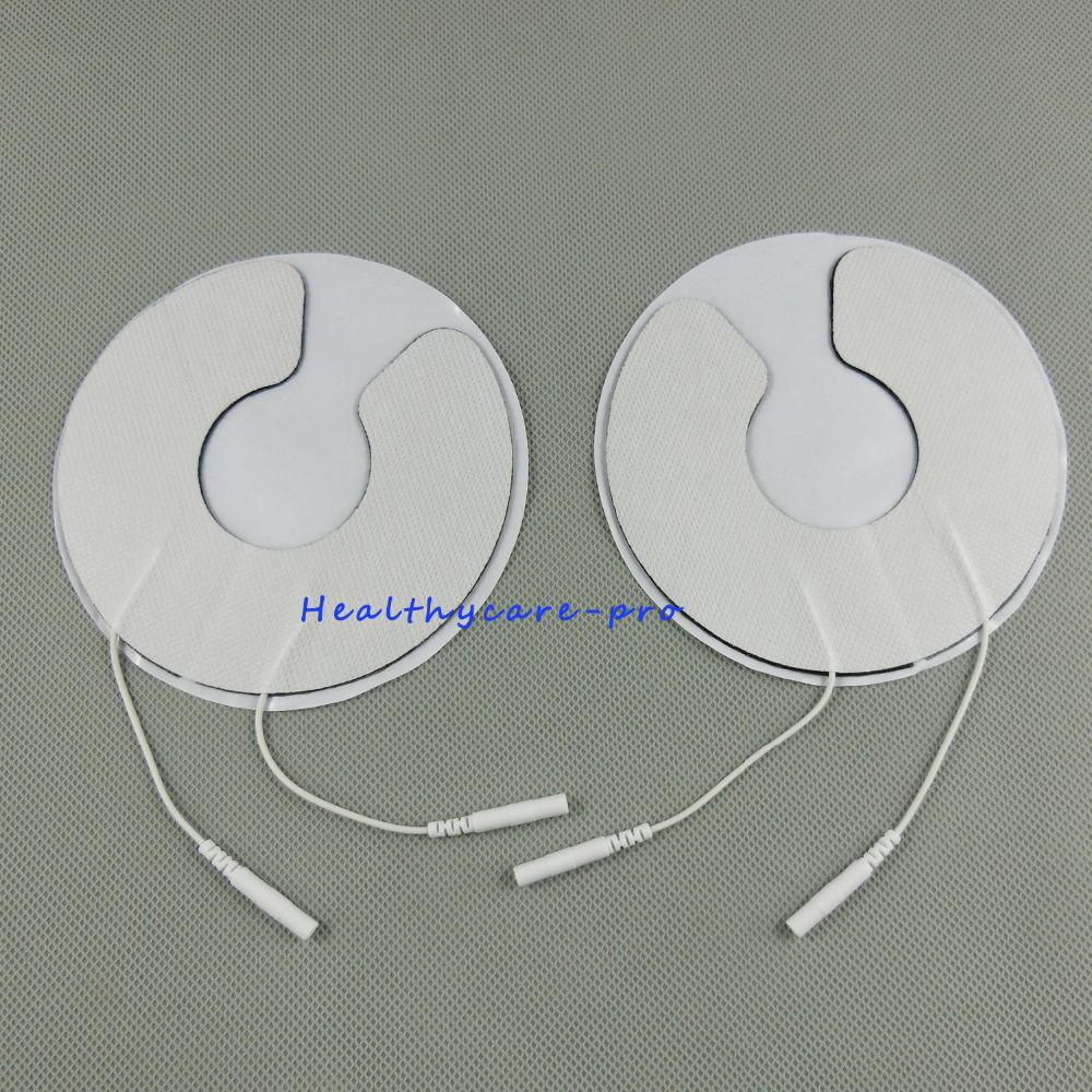 50 Pairs/pack Breast electrode pads Chest adhesive patches Breast physiotherapy Jack 2.0mm 1pair breast electrode pads chest adhesive patches breast physiotherapy jack 2 0mm