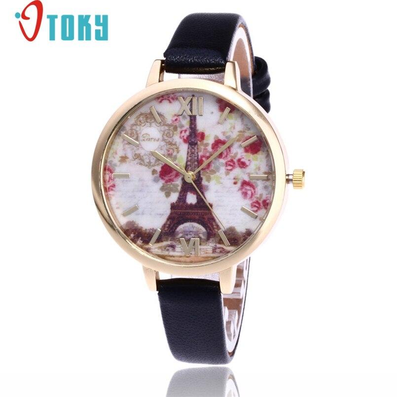 OTOKY Luxury Women Brand Thin Leather Rose Gold Bracelet Watch Women Crystal Quartz Wristwatch Montre Female Women Girl Watch