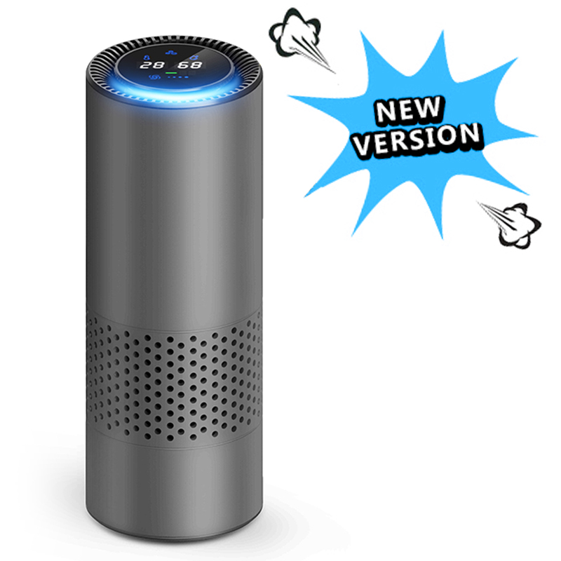 Giahol Luchtreiniger Met Hepa Filter Verse Lucht Anion Auto Luchtreiniger Infrarood Sensor Air Cleaner Best Voor Car Home kantoor Grijs