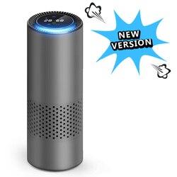 Purificador de aire GIAHOL con filtro HEPA, purificador de aire fresco Anion para coche, Sensor infrarrojo, Sensor de aire, limpiador de aire, lo mejor para el coche, hogar, oficina, gris