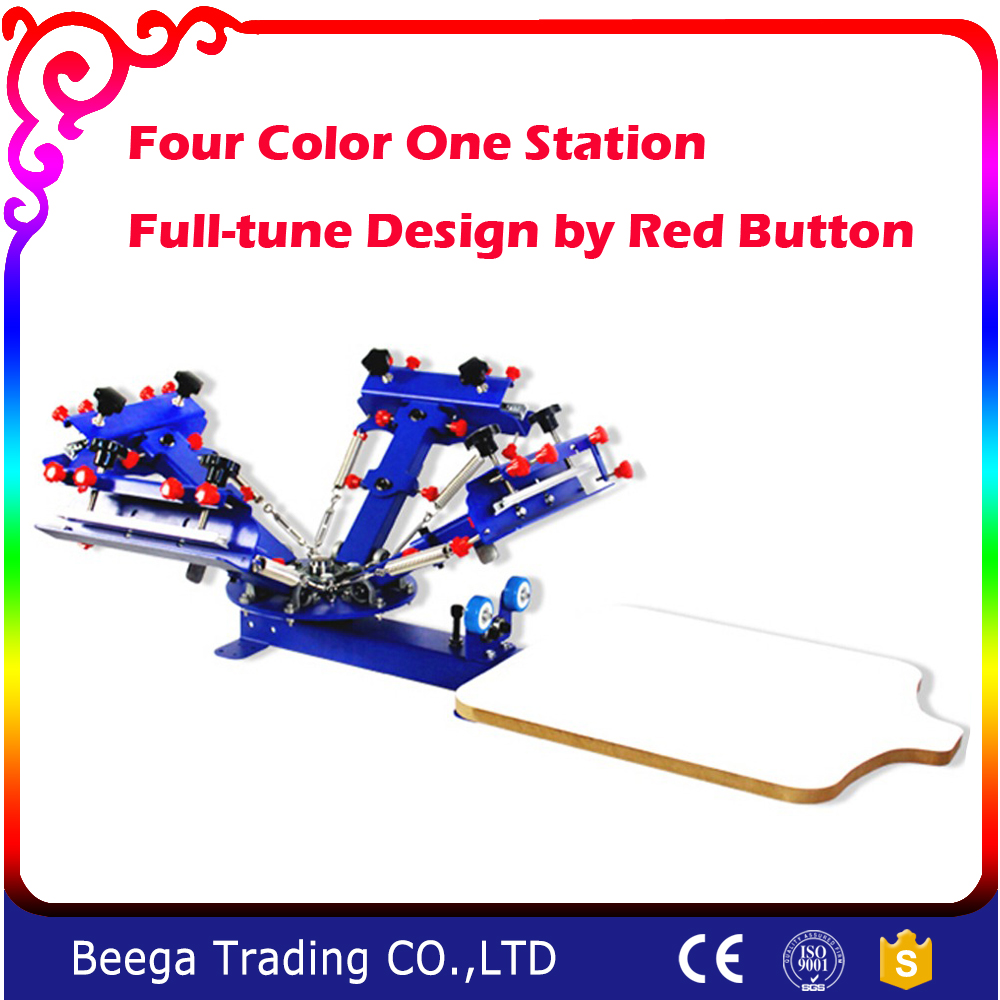 DJ- 4 Color 1 Station Double Rotary Screen Press with Fast Shipping Wholesale Price and High Quality Best Price freeshipping cc1101 module 868m with small antenna high quality best price