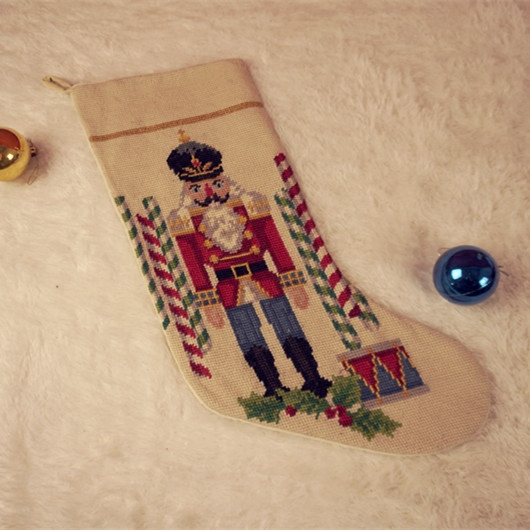 christmas decorations cloth art europe and the united states foreign trade giant candy floss socks wool