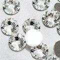 Супер предложение, блестящие 1440 шт. от SS3 до SS10 стразы, прозрачные кристаллы,  3D украшение ногтей, плоские стразы