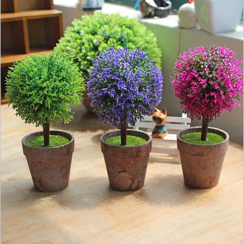 Houseware decor mini simulation bonsai plants artificial for Plant decorations home