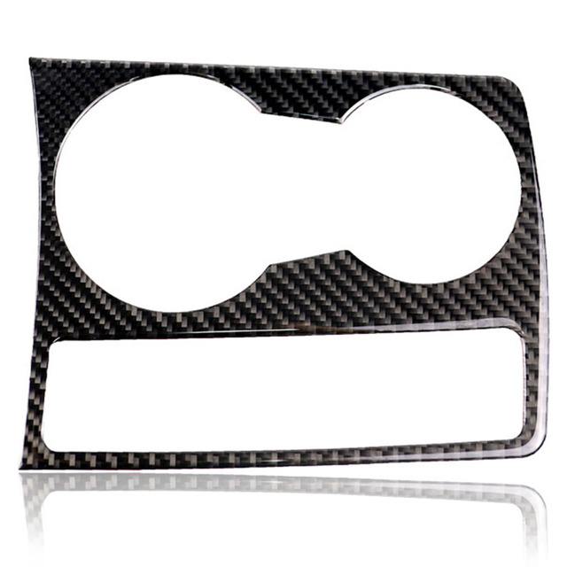 For Audi A5 A4 B8 2009-2015 Carbon Fiber Trim Cup Holder Decorative Frame Decal Cover Sticker Cover Car Styling