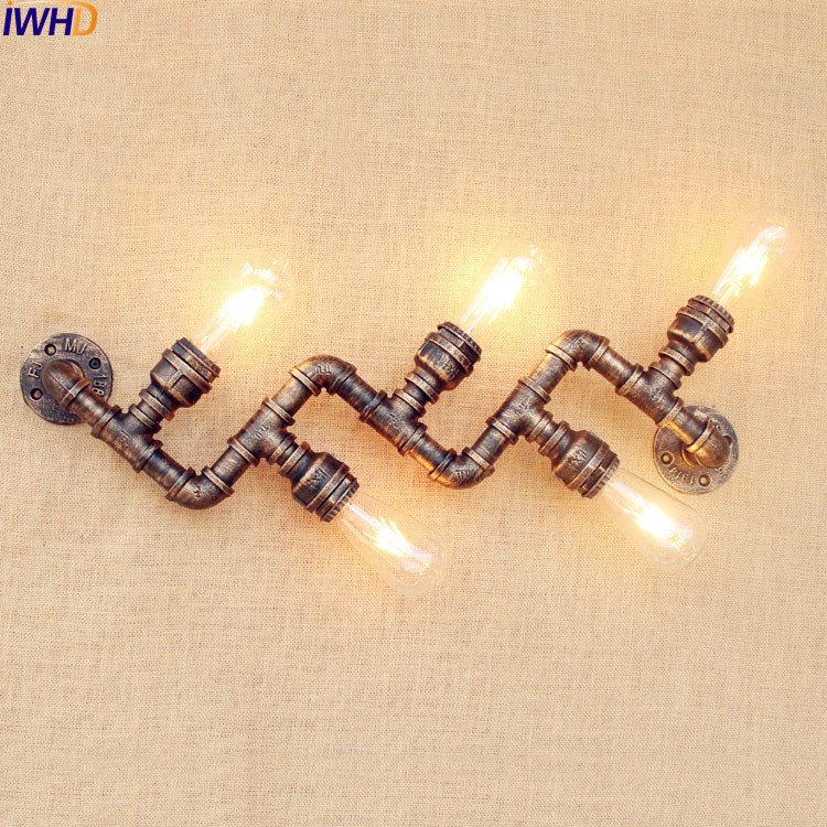 Iwhd Water Pipe Retro Vintage Ceiling Light Fixtures: Aliexpress.com : Buy IWHD Retro Vintage Wall Light