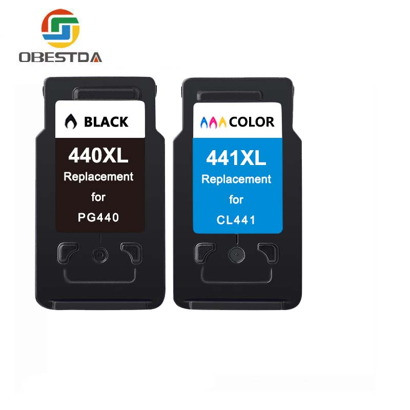 Obestda PG 440 CL 441 Refilled Ink Cartridge Replacement for <font><b>Canon</b></font> PG440 CL441 <font><b>440XL</b></font> 441XL for Printer 4280 MX438 518 378 MX438 image