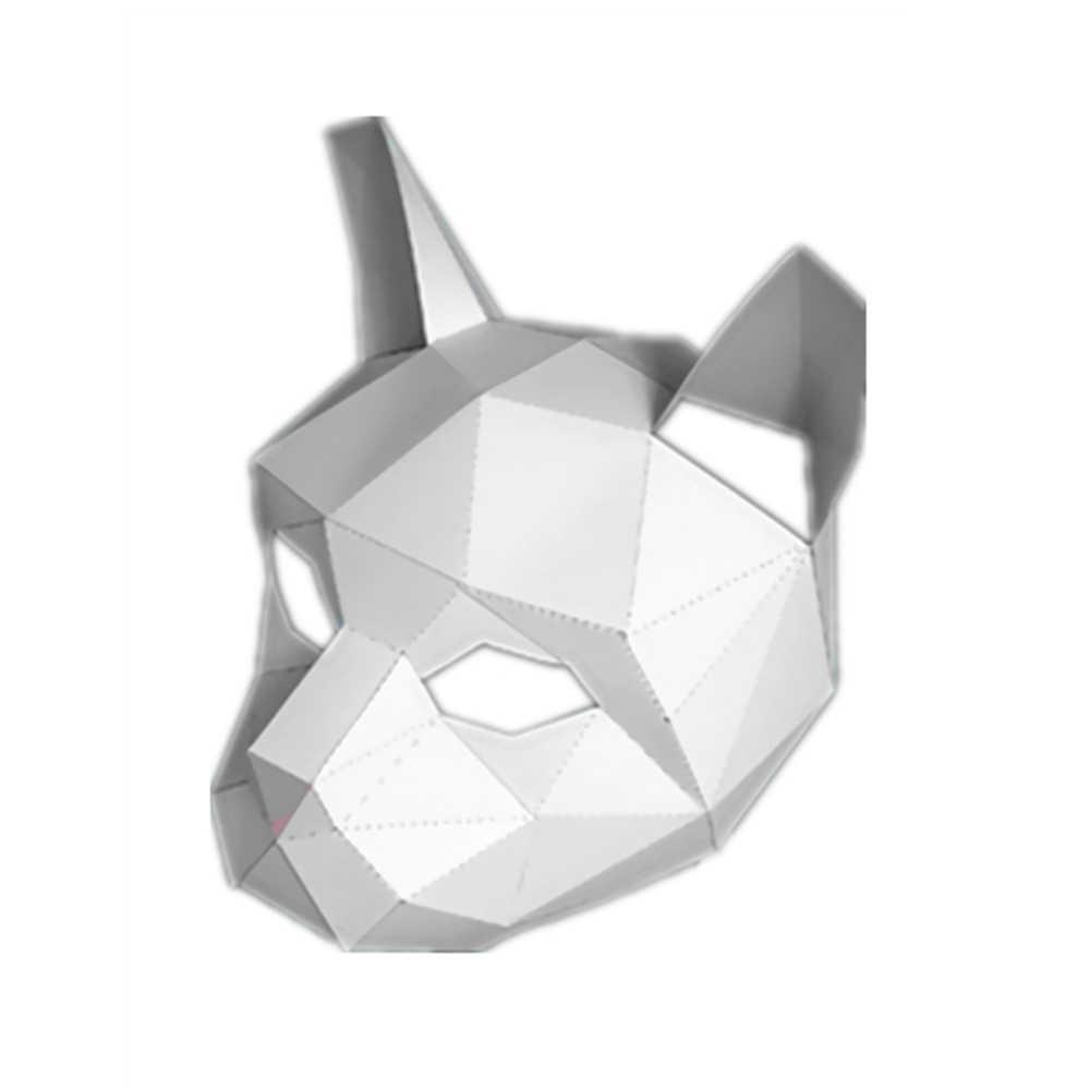 2019 جديد وصول تأثيري قناع ورقي ثلاثية الأبعاد ورقة نموذج مكتبة الفضاء ورقة كرافت كرتون البيت للأطفال ورقة اللعب الحيوان Avata