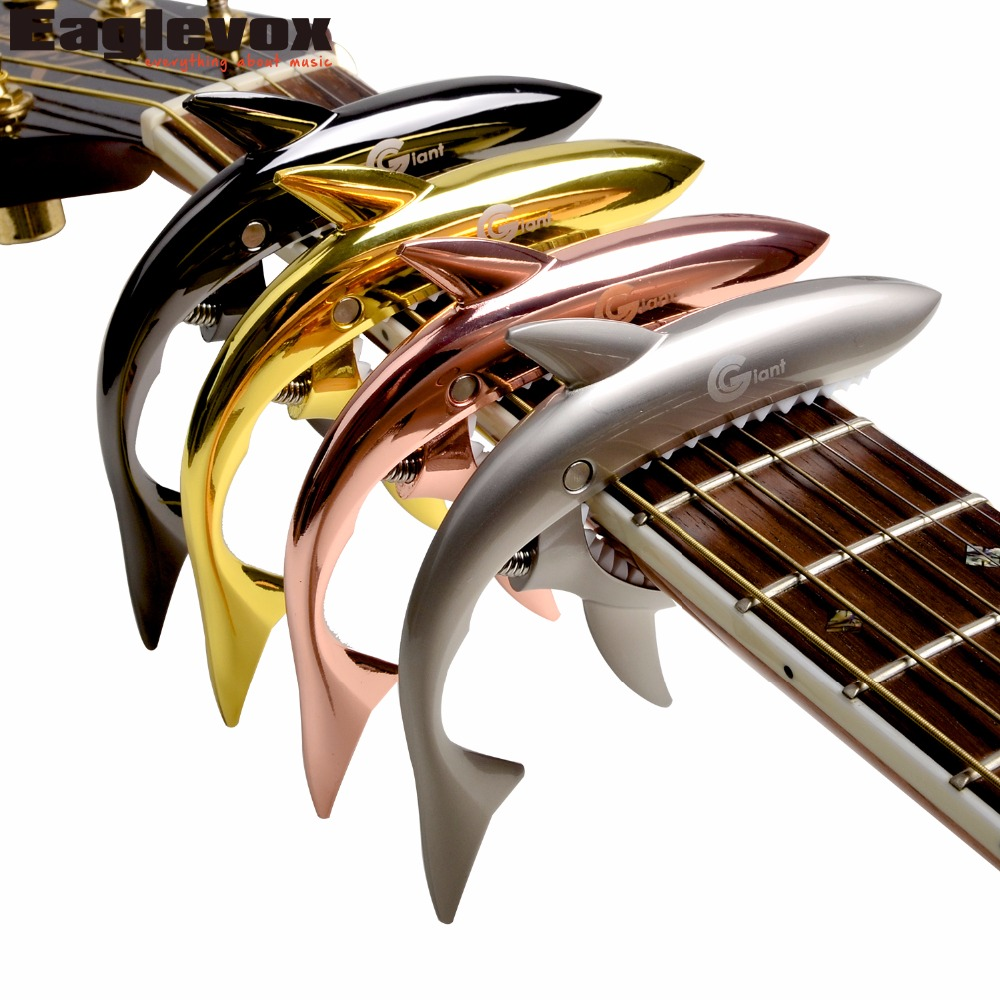 Zinc Alloy Shark Capo for Acoustic Electric Guitar Musical Instrument Guitar Accessories GC-30 shark capo for acoustic electric classical guitar zinc alloy musical instrument guitar accessories gc 30