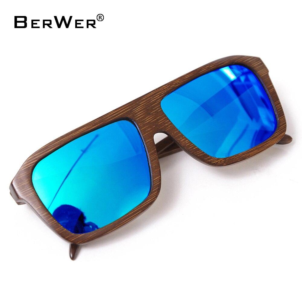 BerWer 2018 hot handmade bamboo sunglasses polarized lens sunglasses wooden sunglasses