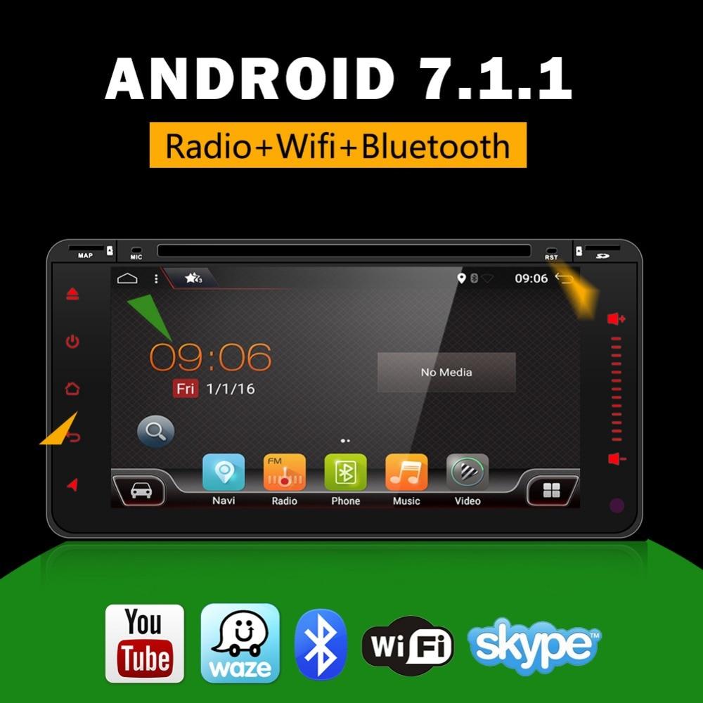 3G/4G Android 7.1 2 Din android car radio Car DVD GPS for Toyota Corolla Terios Camry Prado RAV4 Universal radio wifi ROM 16GB