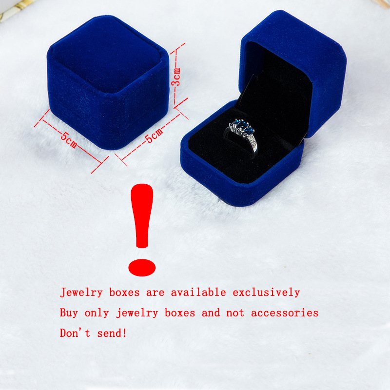 5 Colors Velvet Engagement Wedding Box Jewelry Display