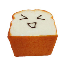 1 Pc Funny Simulation Bread Big Toast Slices Cake Shop Showcase Model Toys(China)