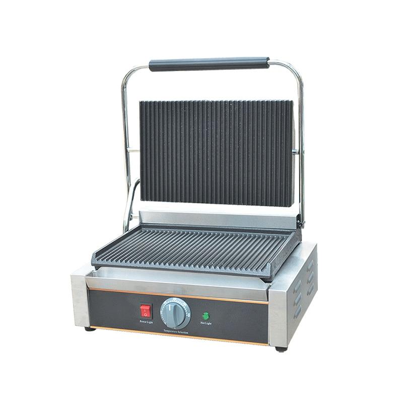 110/220V 1800W Commercial Electric Contact Grill Steak Machine Non-stick Single Plate Electric Griddle Grill EU/AU/UK/US стоимость