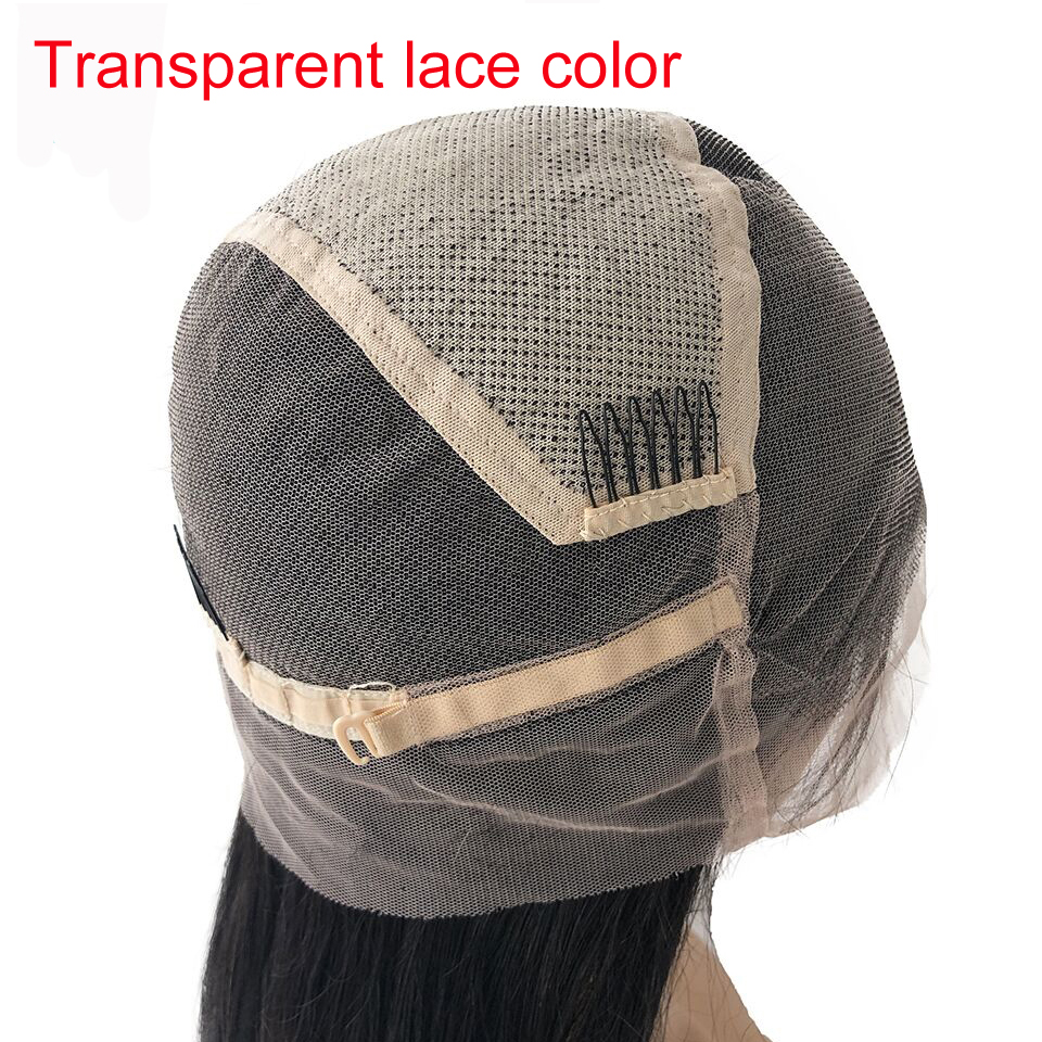 Transparent Lace Color Glueless Full Lace Wigs Human Hair With Baby Hair Brazilian Remy Full Lace