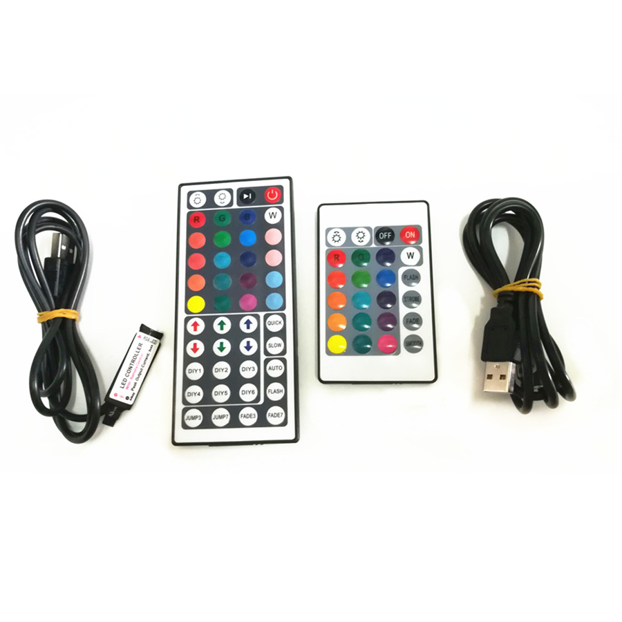 3/17/24/44 Key USB Remote Controller For 5V 5050 3528 2835 RGB LED Strip Light TV Back RGB Controller With USB Plug