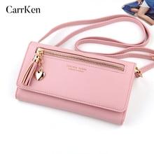 CarrKen Ladies Purses Brand Wallet Women Long Zipper Coin Pu
