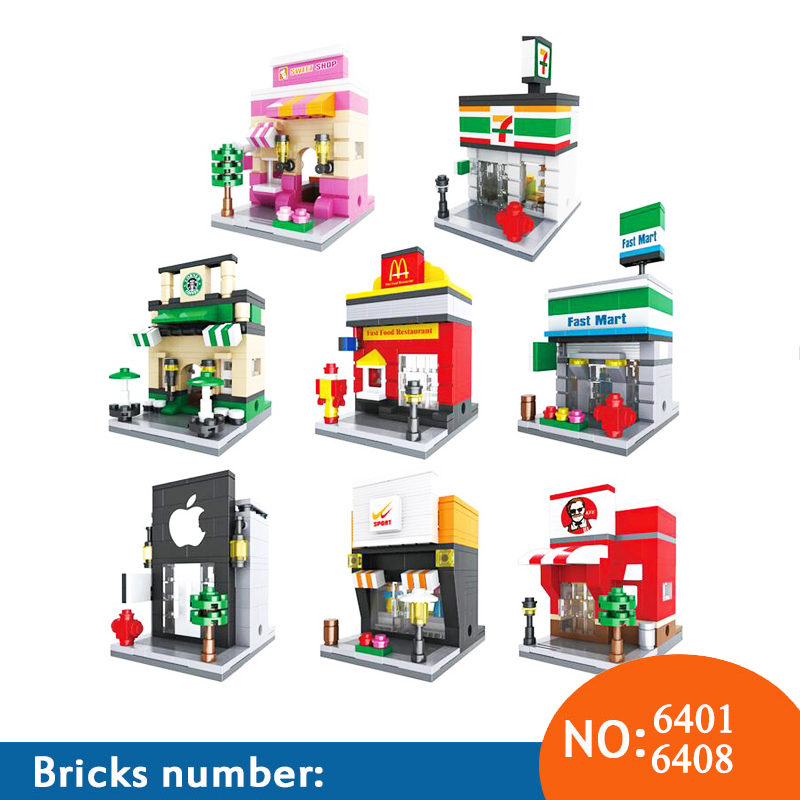 Blocks Punctual Mini Fast Mart Store Compatible Legoing City Architecture Street View Model Building Blocks Toys For Children Legoings Juguetes Fast Color Back To Search Resultstoys & Hobbies