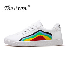 2018 Thestron Mens Casual Shoes Male Autumn New  Black White Skate Footwear Fashion Lace Up Designer Luxury Sneakers