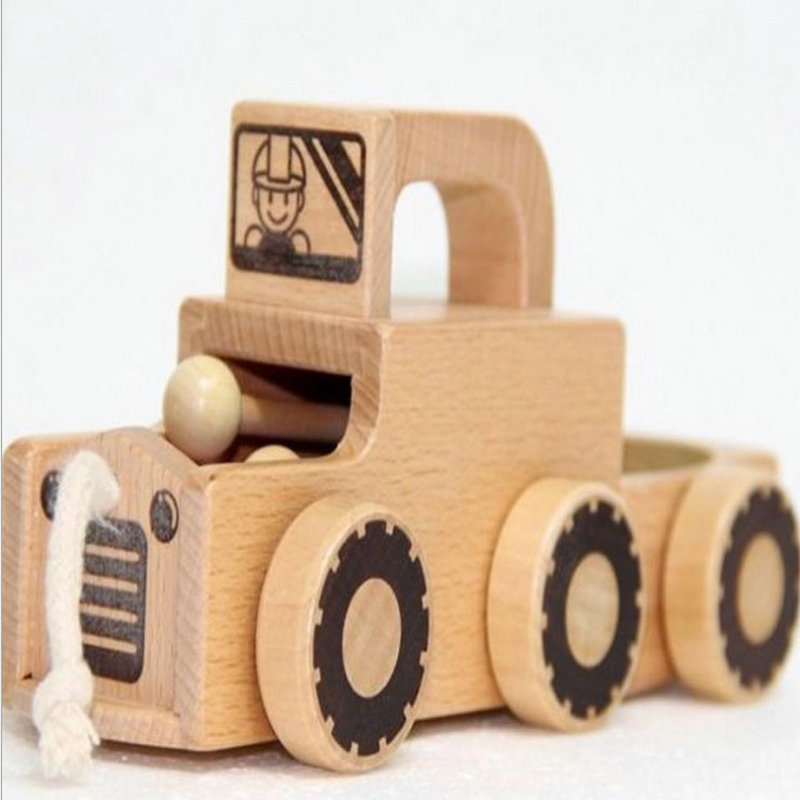 free shipping kids toys boutique wood drag carknocked at the car toddlers drag toy