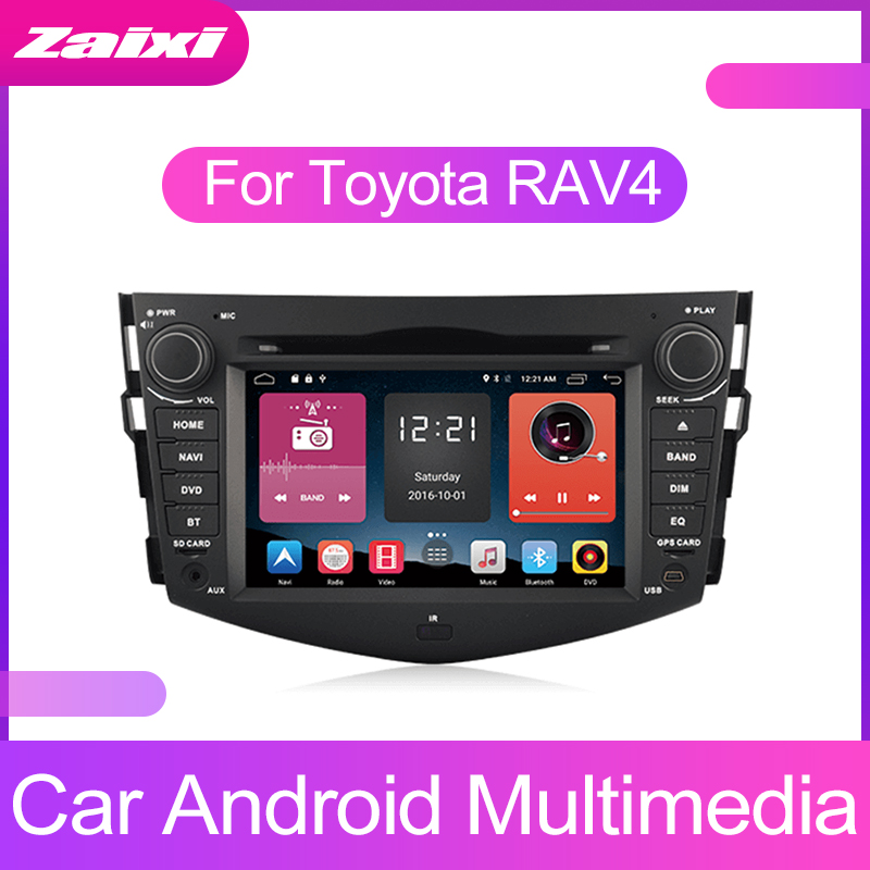 ZaiXi Touch screen Android car Audio for Toyota RAV4 RAV 4 2006~2012 support GPS navi Ipod BT radio mic Media Navigation system