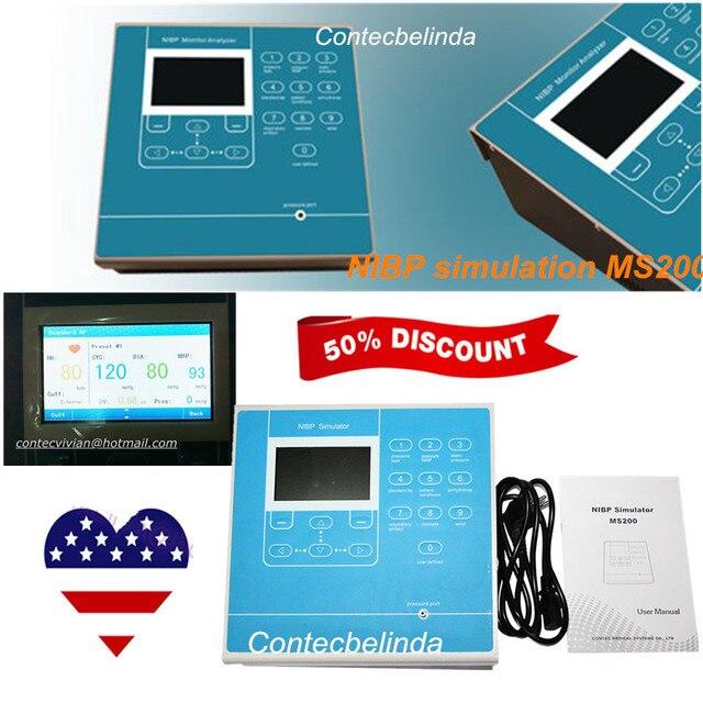 CONTEC MS200 NIBP Simulator Non-Invasive Blood Pressure simulation COLOR LCD 2019 Newest 1