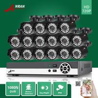 ANRAN 16CH HDMI 1080N DVR 16pcs 720P Outdoor D N Home CCTV Security Camera Surveillance System