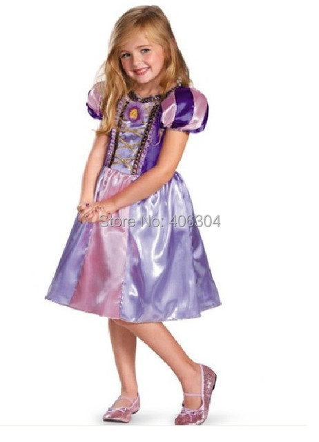 Free Shippinggirl Cosplay Tangled Rapunzel Princess Costume Dress