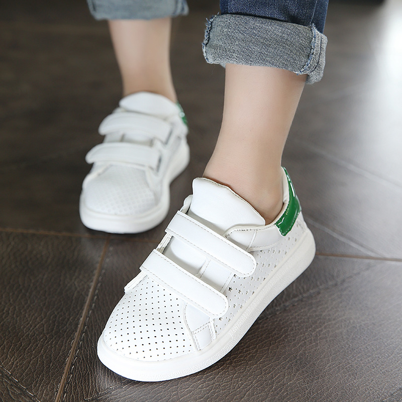 Children shoes 2017 spring fashion breathable try the new soft white men and boys casual brand sport shoes school kids shoes