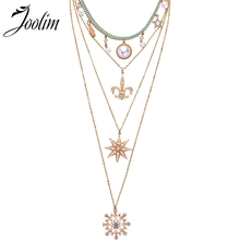 Joolim Luxury Layered Necklace Statement Necklace Party Necklace For Women