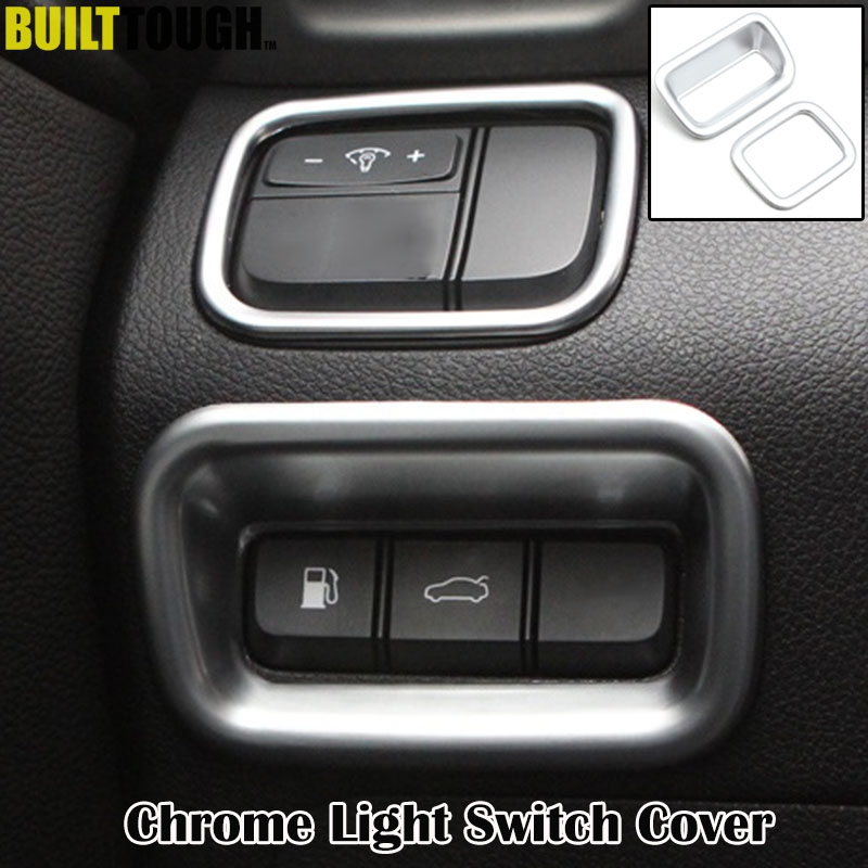 For Kia Optima K5 JF 2016-2019 Chrome Head Light Switch Panel Cover Trim Bezel
