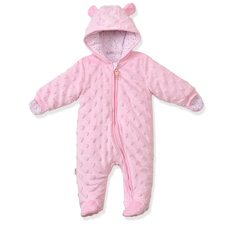 Newborn Baby Rompers Winter for Infant Jumpsuit Solid Long Sleeves Boys Girls Pajamas Feet Covered Body Suits Bebe Clothes newborn baby girls rompers 100% cotton long sleeve angel wings leisure body suit clothing toddler jumpsuit infant boys clothes