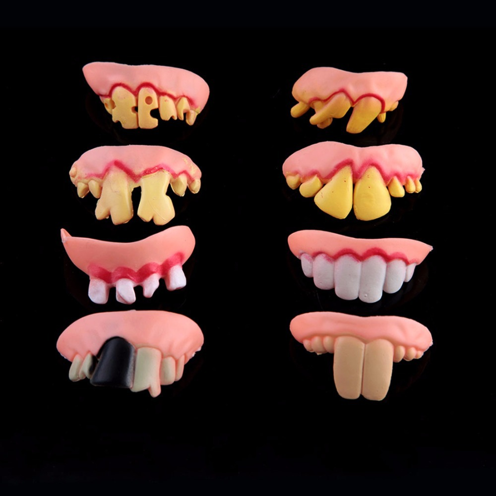 cosplay halloween decoration props bucktooth false teeth allhallows masquerade halloween costumes jokes hilarious dentures scary in party masks from home
