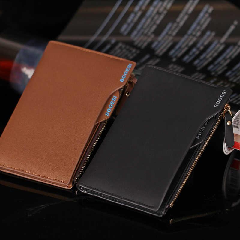 Роскошные портфель дизайнер известный бренд Bogesi Perse короткие для мужчин кошелек портмоне мужской кожаный мешок денег Walet Cuzdan Portomonee