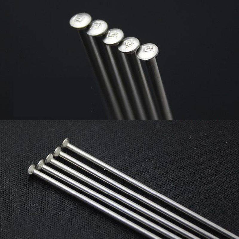 Custom length 14g DOUBLE BUTTED SILVER Stainless J-bend bicycle spokes 2.0mm